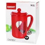 Френч-пресс Banquet Darby красный 800мл