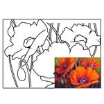 Rosa Start Still Life #9 Canvas on Cardboard with an Outline 30х40cm