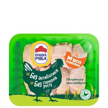 Куриное мясо голени Наша Ряба упаковка РЕТ ~ 500-650г - купить, цены на МегаМаркет - фото 1