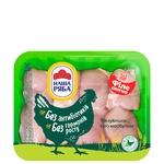 Филе бедра Наша Ряба цыпленка-бройлера охлажденное (упаковка РЕТ ~1,1кг)