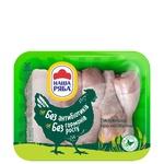 Голень и бедро Наша ряба цыпленка-бройлера охлажденное ассорти (упаковка ~1,1кг)