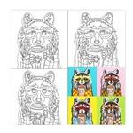 Полотно на картоні Rosa Start Pop Art Raccoon з контуром 30х30см