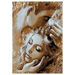 Картина по номерам Идейка Золотые объятия с золотой краской 35х50см