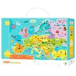 Пазл DoDo Карта Европы 46х64см 100элементов