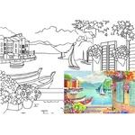 Полотно на картоні Rosa Start Морські пейзажі №3 з контуром 30х40см