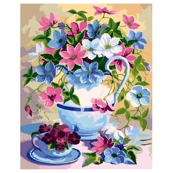 Ideyka Flower Poetry Painting By Numbers 40х50cm