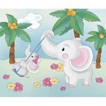 Раскраска Идейка Роспись по холсту Под пальмами 25х30см