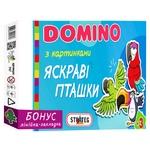 Игра настольная Strateg Domino Яркие птички