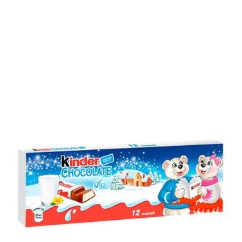 Молочный шоколад Kinder® Chocolate с молочной начинкой 150г - купить, цены на Novus - фото 1