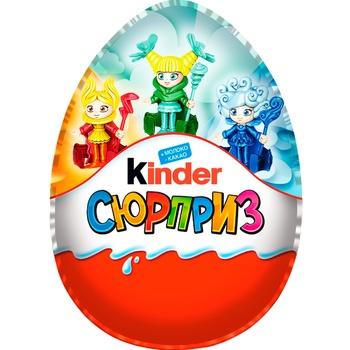 Яйцо из молочного шоколада Kinder Сюрприз Макси с игрушкой для девочек 220г - купить, цены на МегаМаркет - фото 1