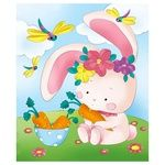 Ideyka Hare in the Meadow Painting on Canvas Coloring 25х30cm