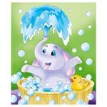 Ideyka Bath Day Painting on Canvas Coloring 25х30cm