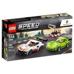 Конструктор Lego Speed Champions Porsche 911 RSR и 911 Turbo 3.0