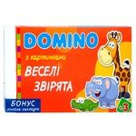 Strateg Domino Funny Little Animals Table Game UA