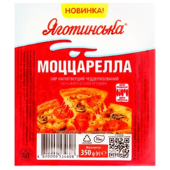 Yagotynsky Mozzarella Cheese 50% 350g - buy, prices for Furshet - photo 1