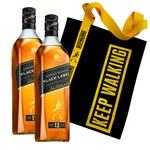Набор подарочный №15 Виски Johnnie Walker Black Label 40% 0,7л 2шт + брендированная сумка-шоппер