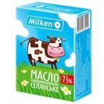 Масло Milken Селянське сладкосливочное 73% 200г