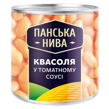 Фасоль Панська Нива в томатном соусе 440г - купить, цены на ЕКО Маркет - фото 1