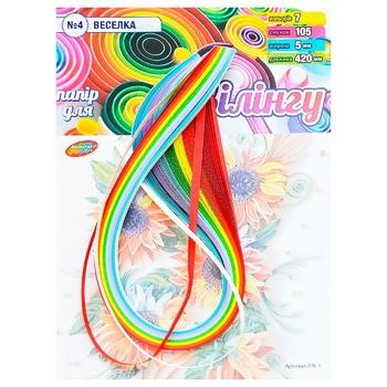 Бумага для квиллинга Колорит Тон №4 Радуга 7цветов 5х420мм 105полос