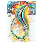Бумага для квиллинга Колорит Тон №2 Универсальная 12цветов 5х420мм 120полос