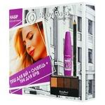 Ruby Rose Set of Cosmetic Mascara + Pencil + Eyebrow Shadow