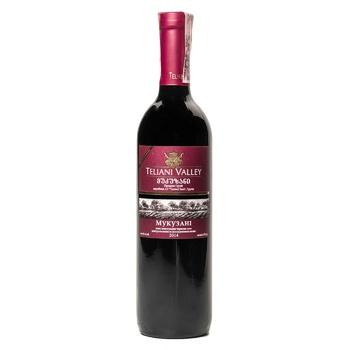 Teliani Valley Mukuzani Red Dry Wine 13% 0.75l - buy, prices for CityMarket - photo 1