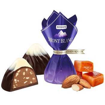 Roshen Mont Blanc Candy with Caramelized Almonds - buy, prices for EKO Market - photo 1