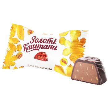 Цукерки Chocoboom Золоті Каштани - купити, ціни на ЕКО Маркет - фото 1