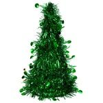 YUH Polyester Green Christmas Tree Decoration 12x26cm