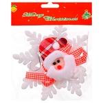 Christmas Snowflake with Santa Decoration
