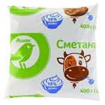 Auchan Sour Cream 15% 400g