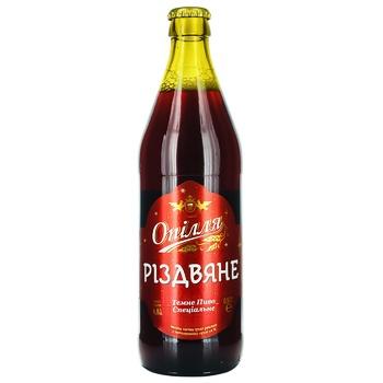 Пиво Опілля Різдвяне темне 4.8% 0,5л