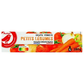 Соус Ашан томатный овощной 180г