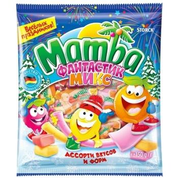 Конфеты Mamba жевательные Фантастик микс 150г