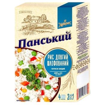 Khutorok Panskyi Long Grain Milled Rice 4*100g - buy, prices for EKO Market - photo 1