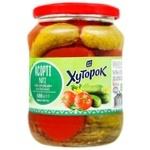 Khutorok Cucumbers and Tomatoes Assorted Vegetables 720ml 680g