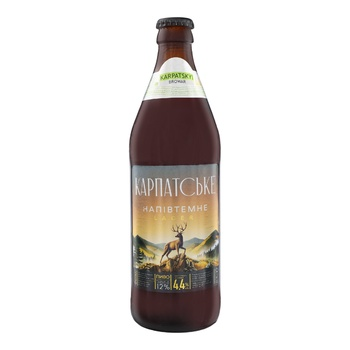 Kaluskie Carpathian Semi-Dark Beer 4.4% 0.5l - buy, prices for CityMarket - photo 1