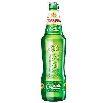 Пиво Оболонь світле 4,5% 0,5л