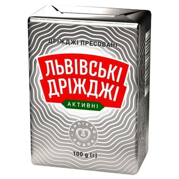 Дрожжи Львовские прессованные 100г - купить, цены на Таврия В - фото 1