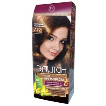 Elitan #7.32 Golden Warm Blond Hair Color Cream - buy, prices for EKO Market - photo 1