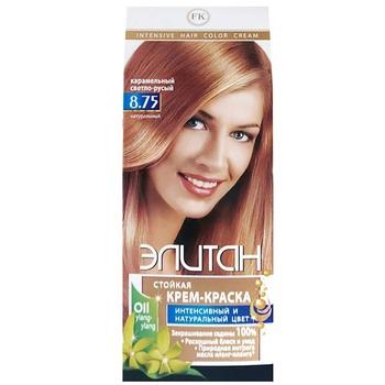 Elitan #8.75 Caramel Light Blond Hair Color Cream - buy, prices for EKO Market - photo 1