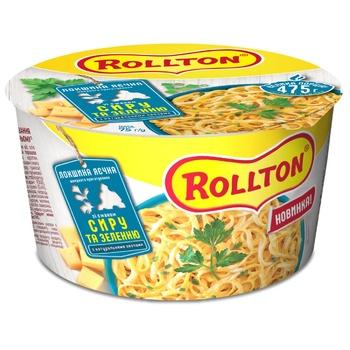 Локшина Rollton яєчна зі смаком сиру та зеленню швидкого приготування 75г - купити, ціни на Ашан - фото 1