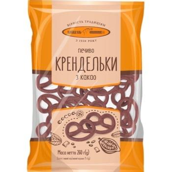 Печиво КиївХліб Крендельки з какао 260г - купити, ціни на Фуршет - фото 3