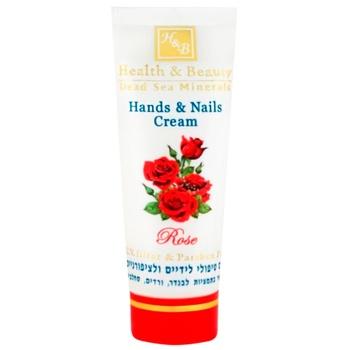 Крем для рук та ногтей Health & Beauty роза 100мл