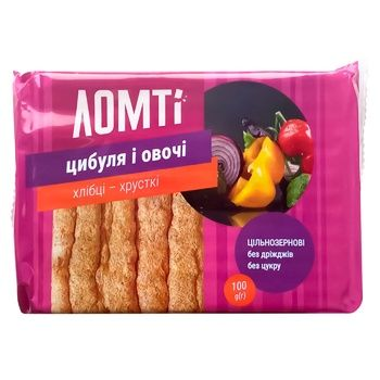 Lomti Onion and Vegetables Crispbread 100g