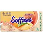 Бумага туалетная Soffione Premio Delicate с ароматом персика трехслойная 16шт