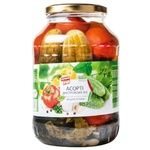 Pershyj Rjad Dniester Cucumbers,Tomatoes and Sweet Pepper Assorted Vegetables 1,45kg