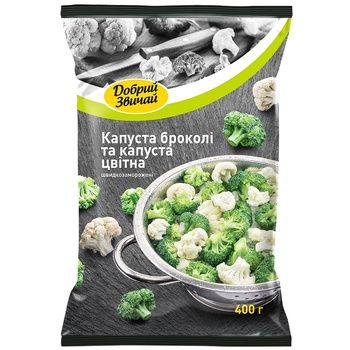 Dobryj Zvychaj Broccoli and Cauliflower 400g