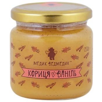 Мед Медик Ведмедик кориця+ваніль скл 250г/200мл - купить, цены на СитиМаркет - фото 1