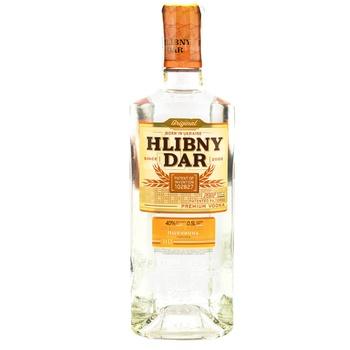 Водка Hlibny Dar Premium 40% 0,5л - купить, цены на Фуршет - фото 1